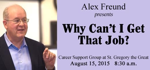 Career Support Group at St. Gregory the Great Executive Presenta