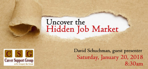 Uncovering the Hidden Job Market at Career Support Group at St. Gregory the Great Church Image